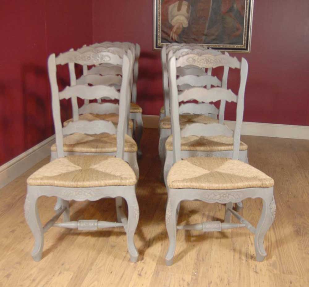 English farmhouse painted ladderback chair kitchen Ladder back chairs