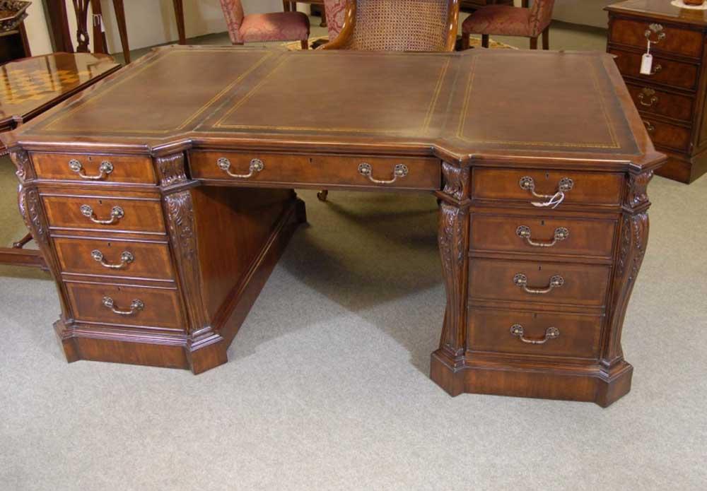 Additional Images - English Mahogany Victorian Partners Desk Desks EBay