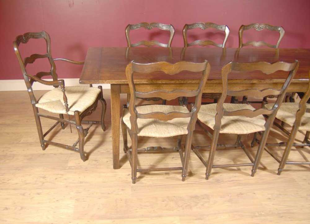 English Oak Ladderback Chair Amp Refectory Table Set Dining