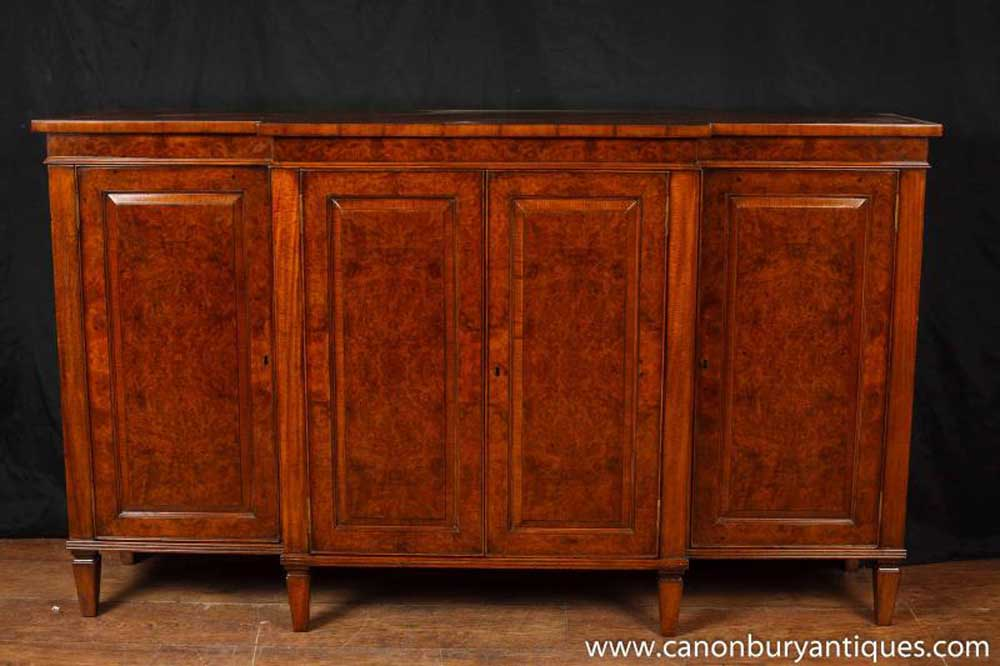 English Regency Sideboard Walnut Buffet Server Furniture