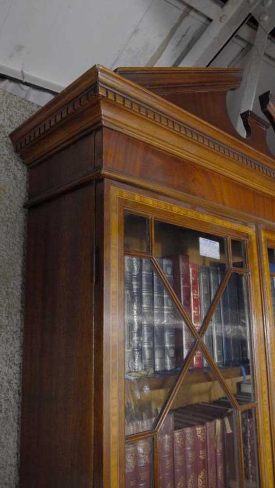 English Sheraton Bureau Bookcase Gothic Desk Book