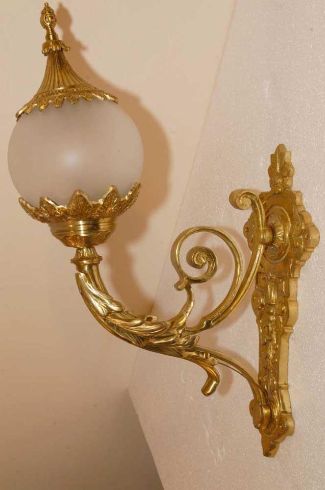 English Victorian Ormolu Sconces Wall Lights Appliques