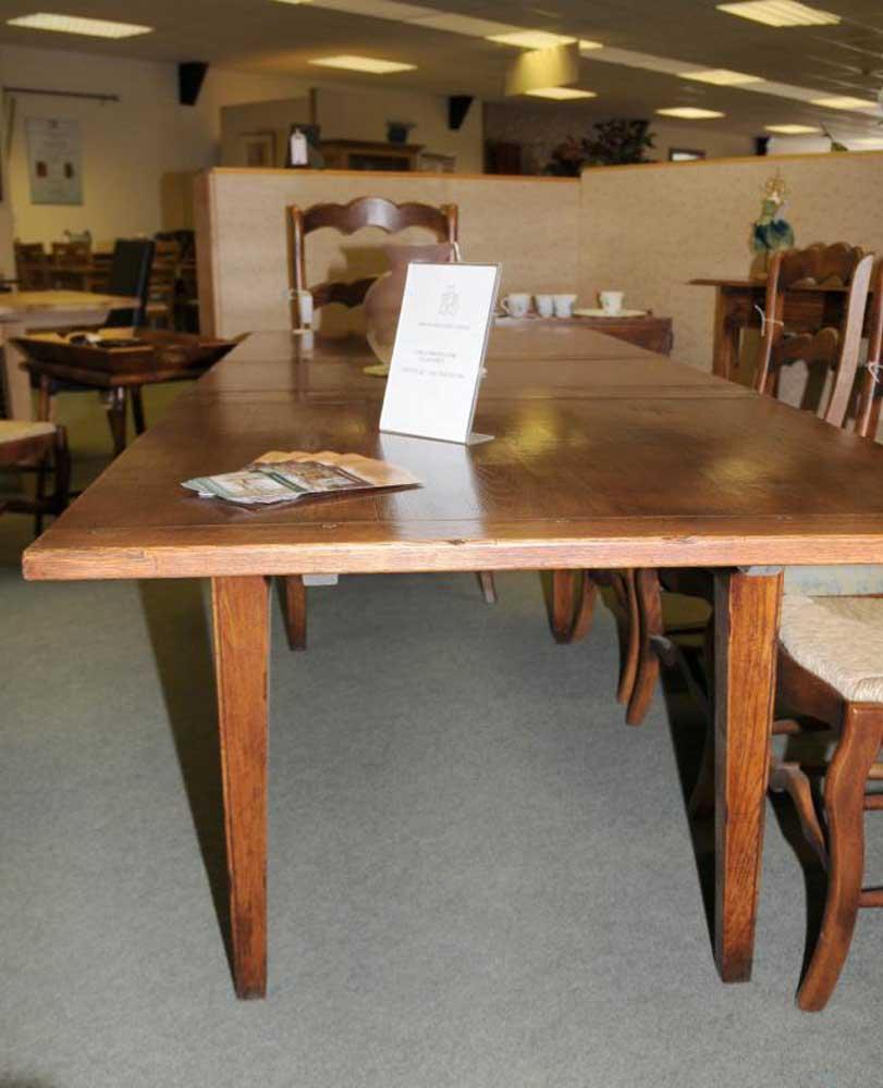 Farmhouse Kitchen Extending Table: Extending Oak Farmhouse Refectory Kitchen Table