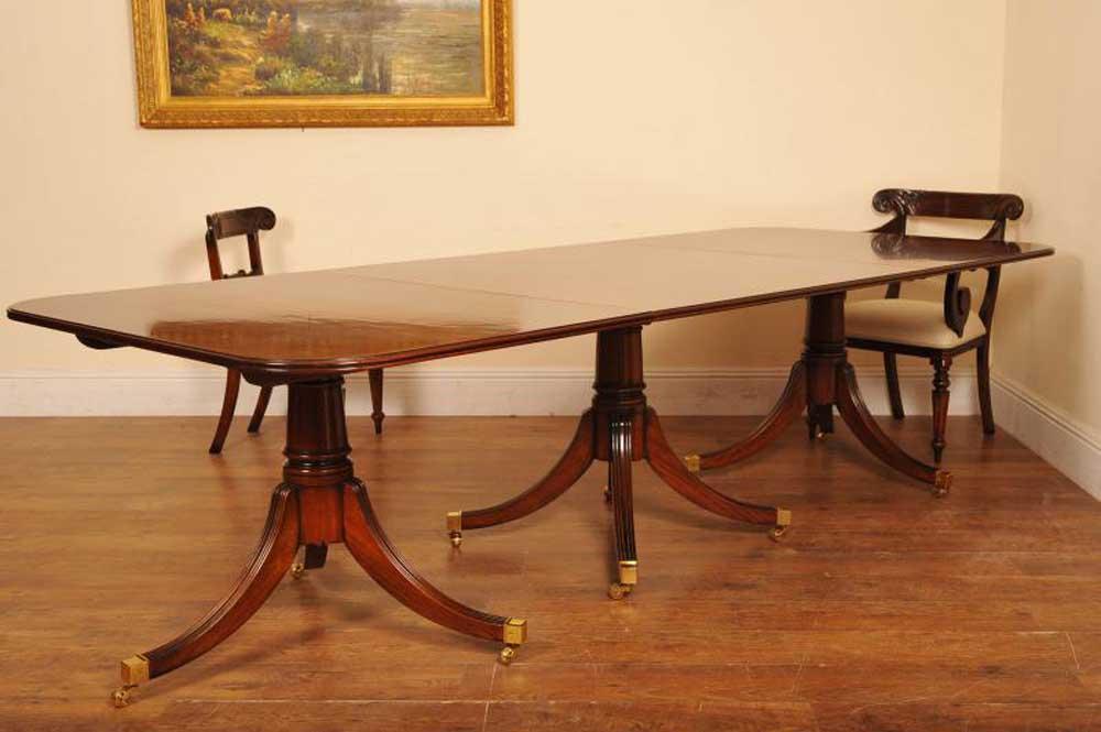 flame mahogany regency pedestal dining table diner. Black Bedroom Furniture Sets. Home Design Ideas