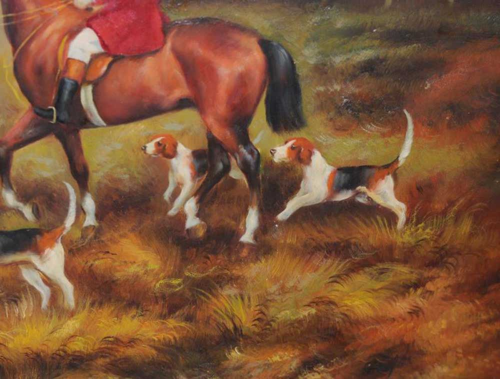 Fox Hunt Oil Painting Signed G Roy English Art Paintings