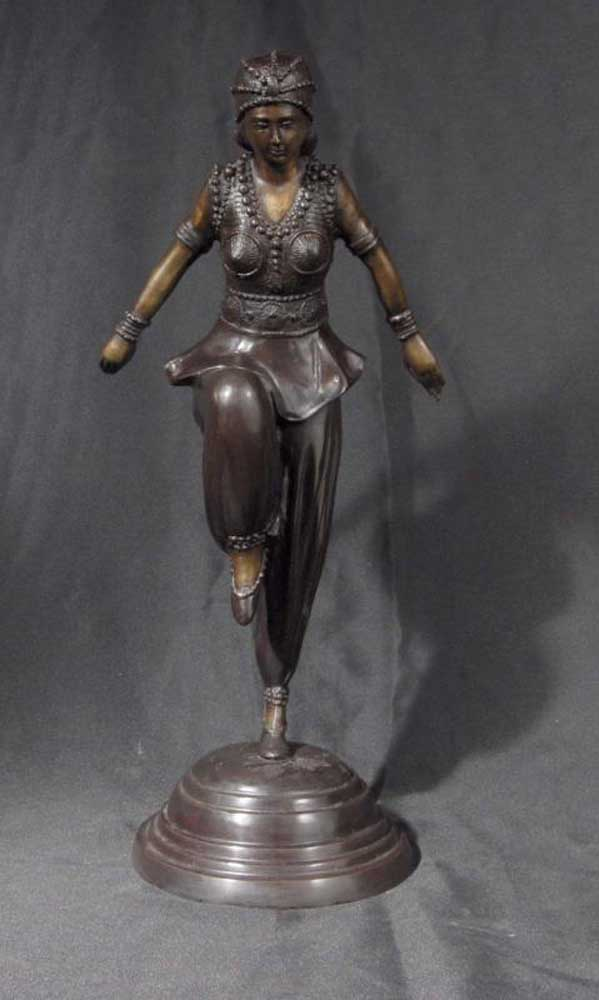French Art Deco Chiparus Graceful Dancer Figurine Egypt
