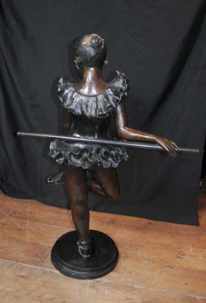French Bronze Ballerina Statue Girl Degas Figurine Ballet ...