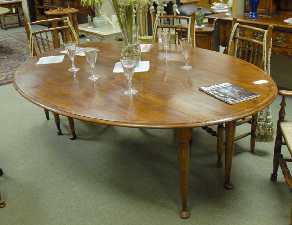 Drop Leaf Table Dining: French Cherry Banded Pad Foot Drop Leaf Dining Table Tables