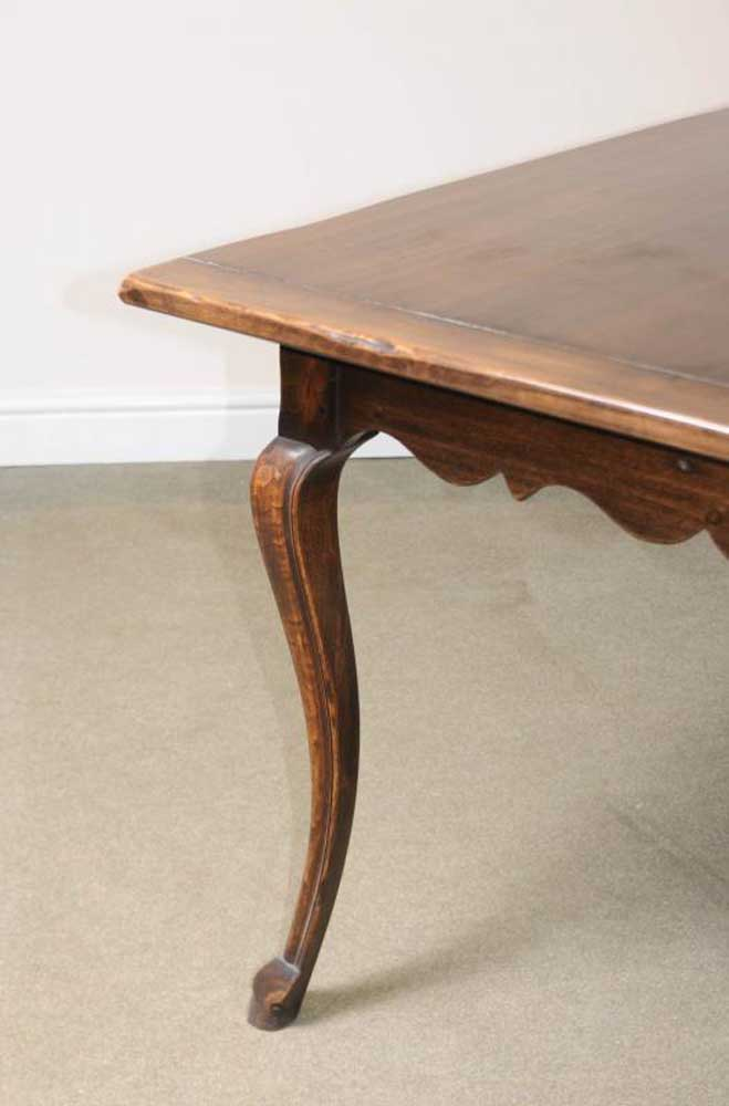 French cherry wood refectory dining table farmhouse furniture for Cherry dining table