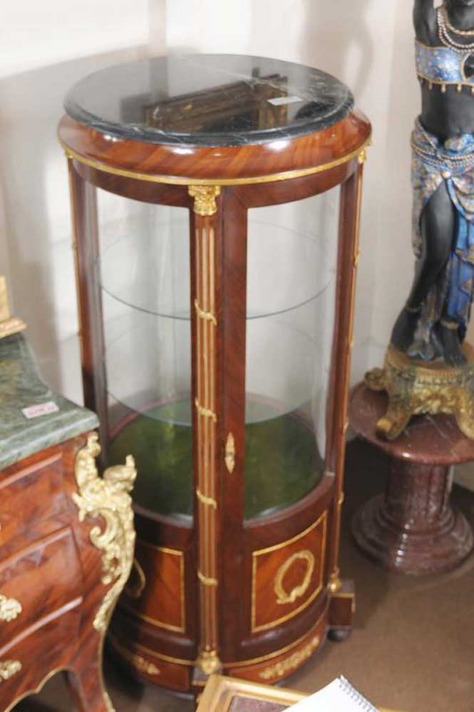 French Empire Glass Display Cabinet Bijouterie Curio