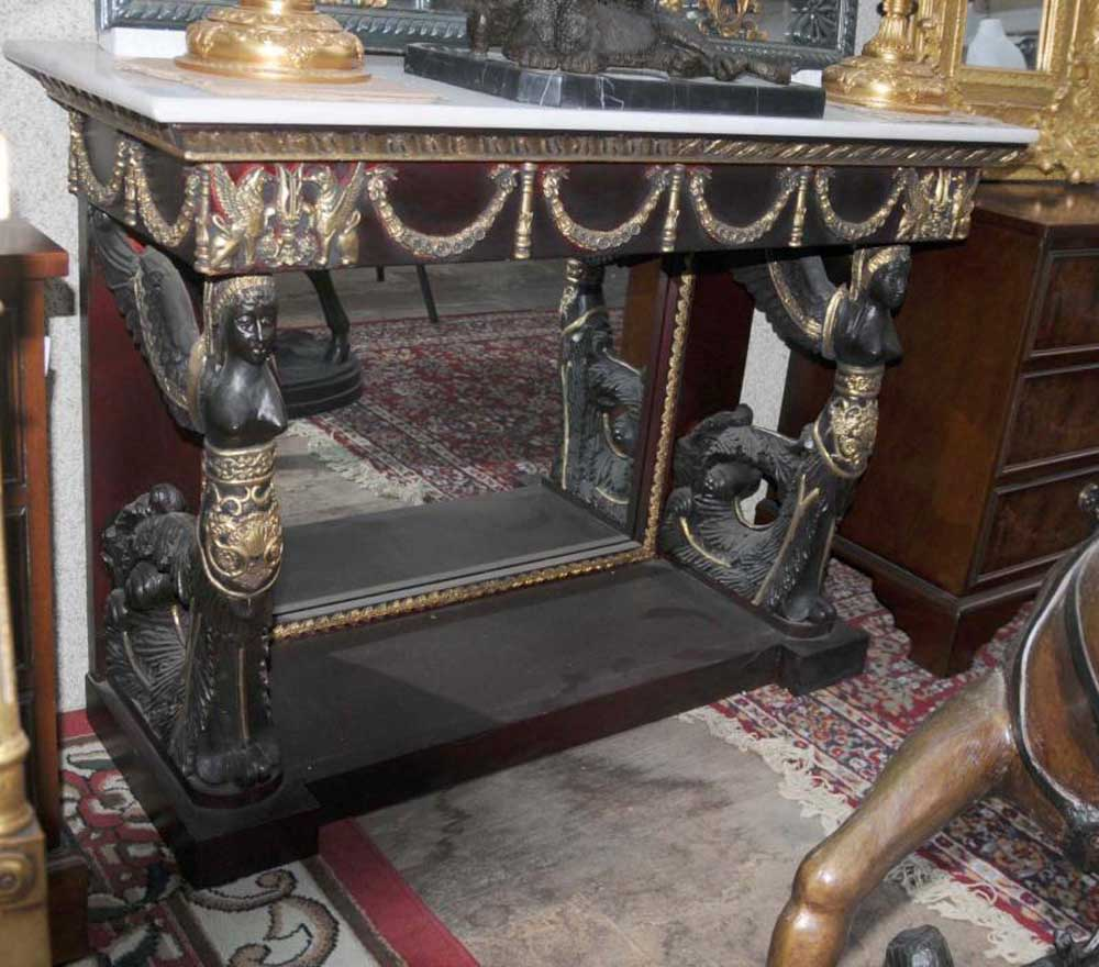 Empire Mirrored Coffee Table: French Empire Sphinx Console Table Mirrored Tables