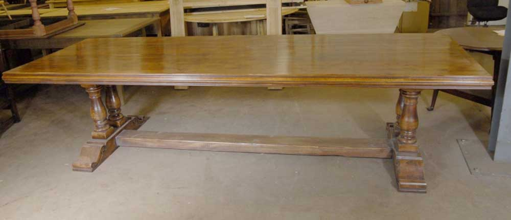 French farmhouse refectory table rustic tables kitchen for 10 foot farm table