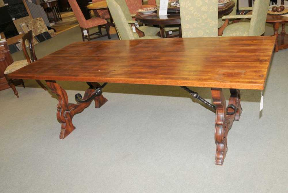 French Farmhouse Rustic Refectory Kitchen Dining Table