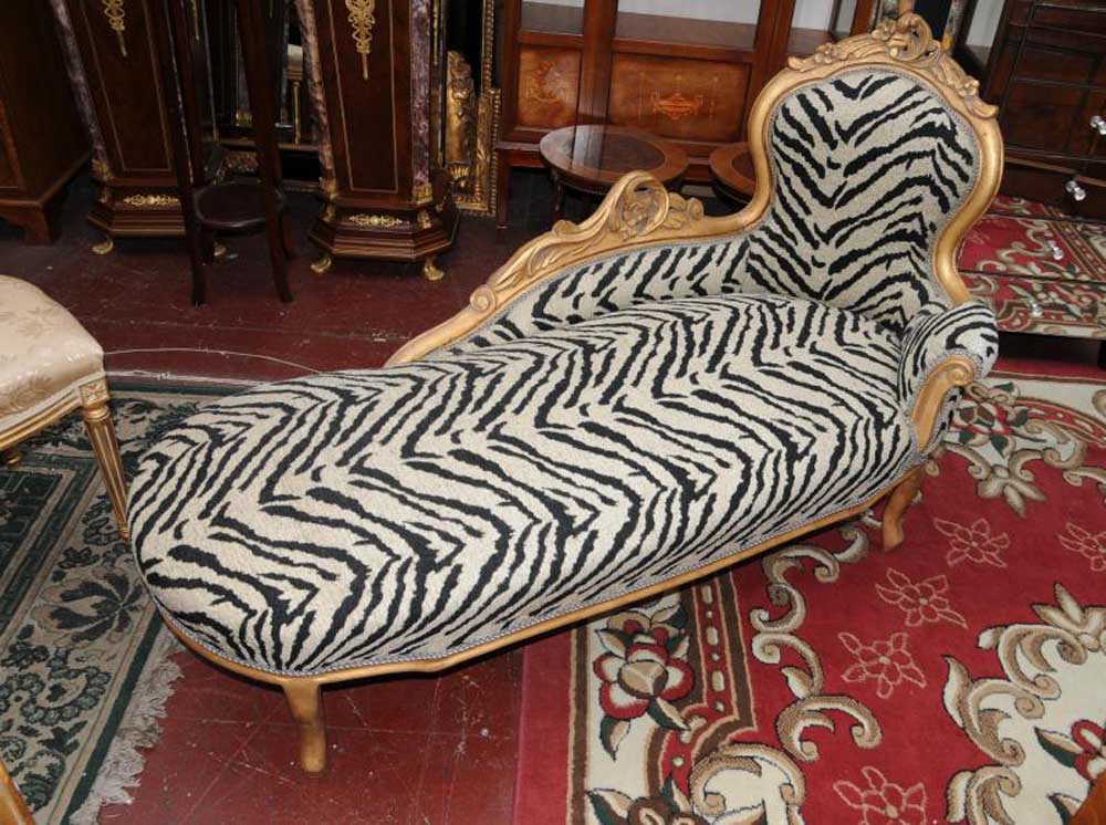 French Louis Xv Chaise Longue Sofa Day Bed Chair Seat