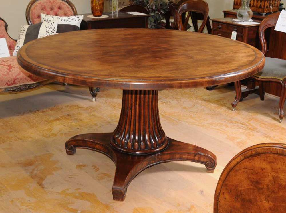 French Round Oak Dining Table Farmhouse Furniture