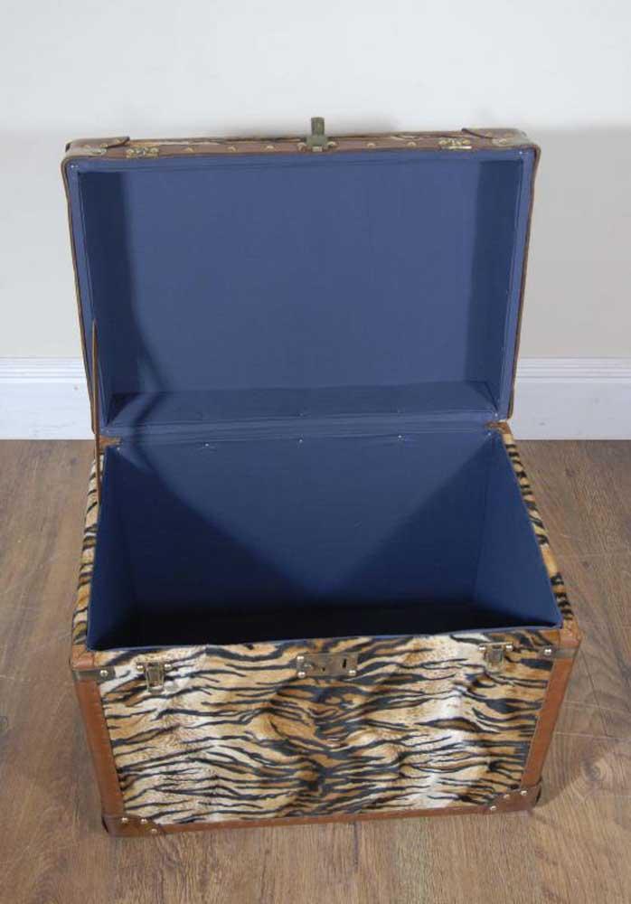 Funky French Zebra Print Trunk Storage Box Chest