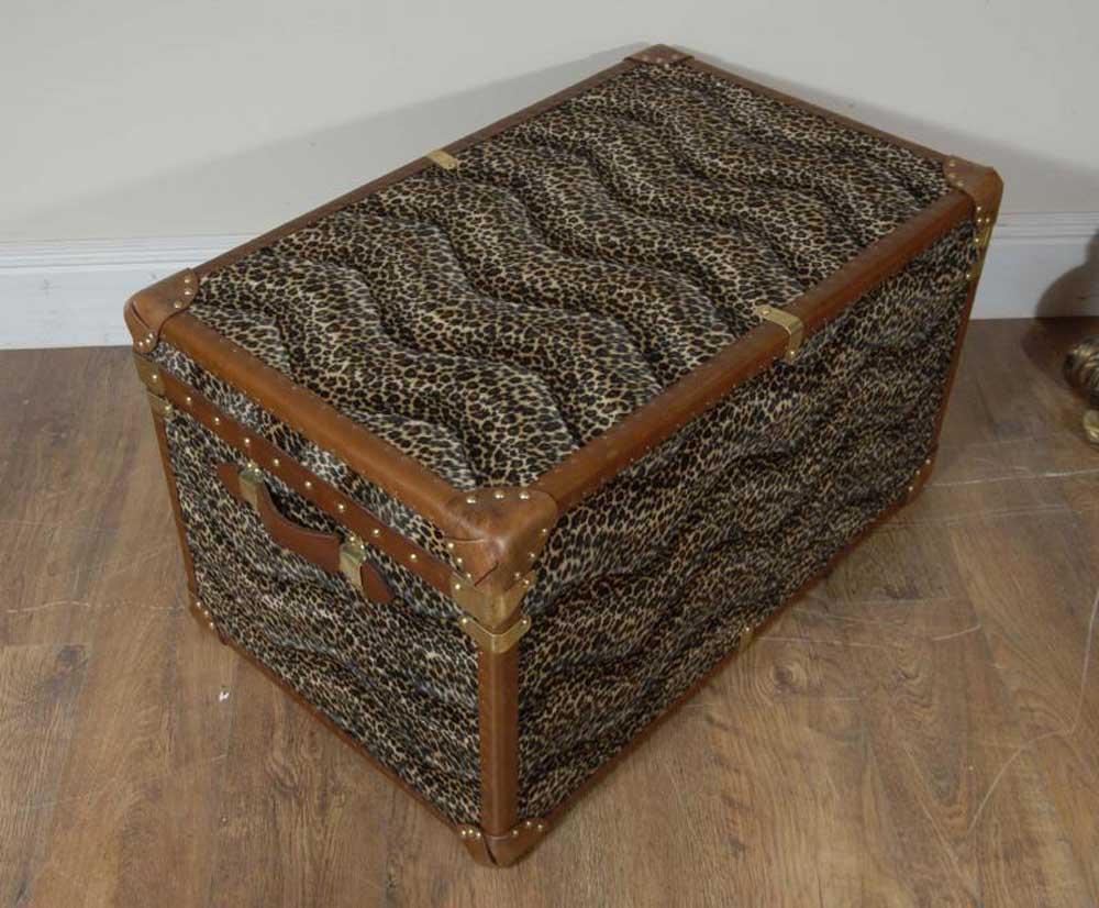 Funky Leopard Print Trunk Box Chest