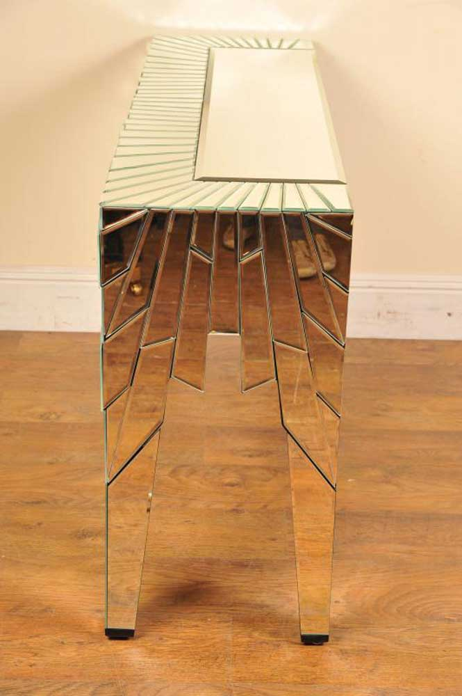 Funky Mirrored Console Table Deco Hall Tables