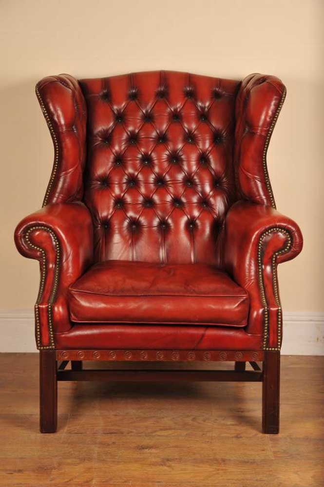 Gainsborough Leather Arm Chair Deep Button Armchair