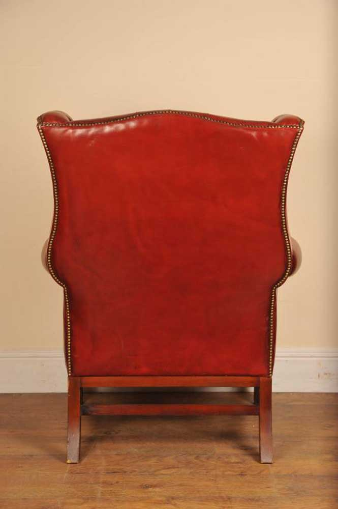 Gainsborough Leather Arm Chair Deep Button Armchair