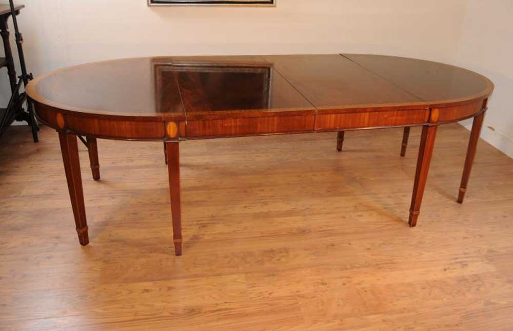 Georgian D End Dining Table Console Tables Regency Furniture