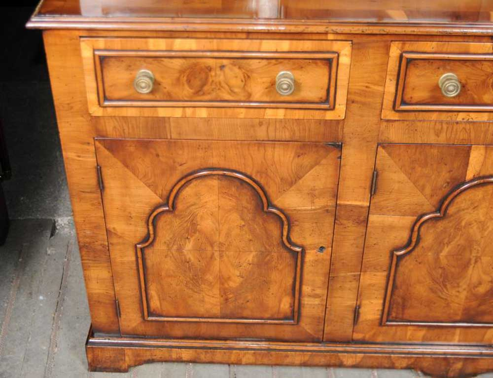 Georgian Yew Wood Bookcase Cabinet Bookcases Furniture