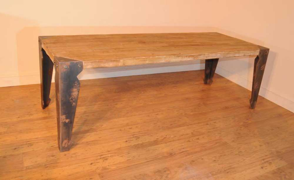 Industrial Dining Table Set: Industrial Dining Table Chair Set Vintage