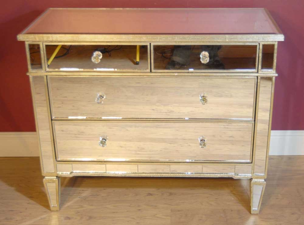 italian art deco mirrored chest drawers cabinet chests commode. Black Bedroom Furniture Sets. Home Design Ideas