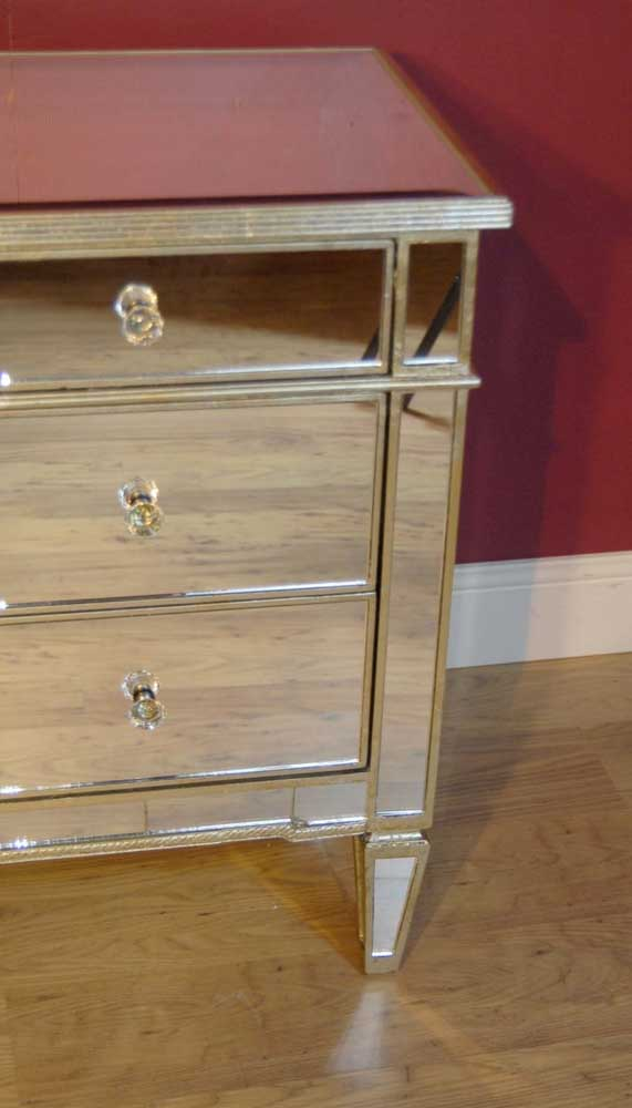 Italian art deco mirrored chest drawers cabinet chests commode for Commode miroir art deco