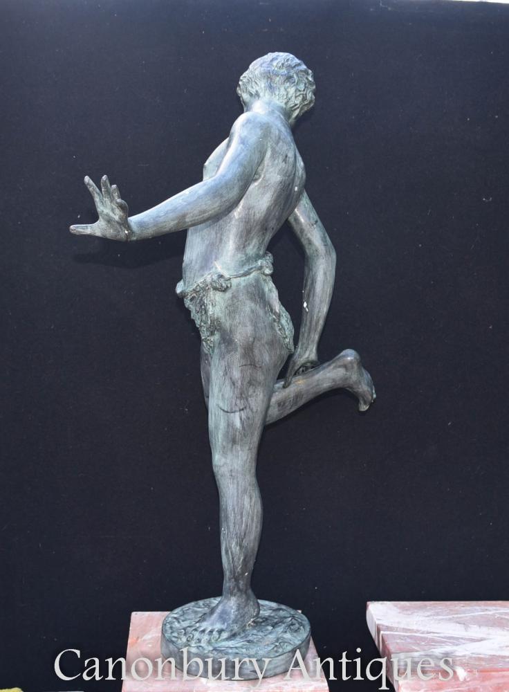 Italian Bronze Crab Boy Statue Figurine Classic Art