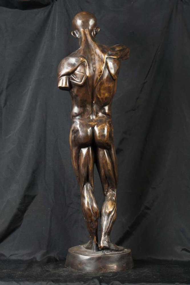 Italian Bronze Da Vinci Nude Male Statue Figurine Man
