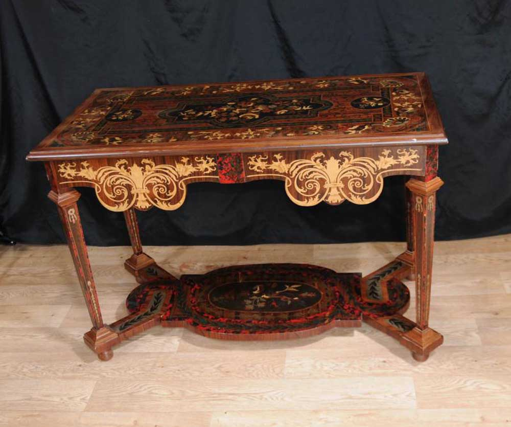 Italian Marquetry Inlay Console Table Hall Tables Tuscan
