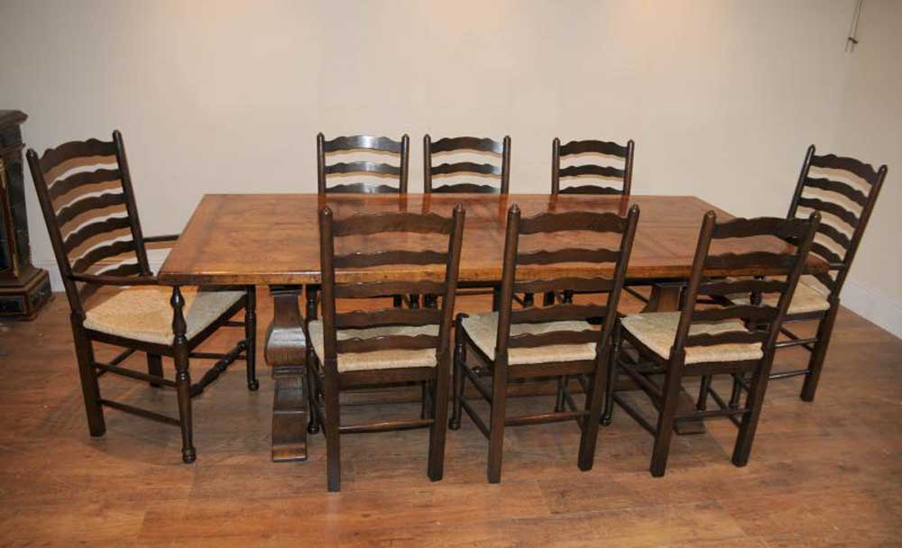 ladderback chair refectory table kitchen dining set farmhouse