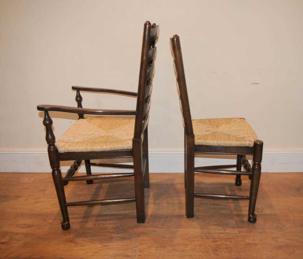 Ladderback Chair Refectory Table Kitchen Dining Set Farmhouse Ebay