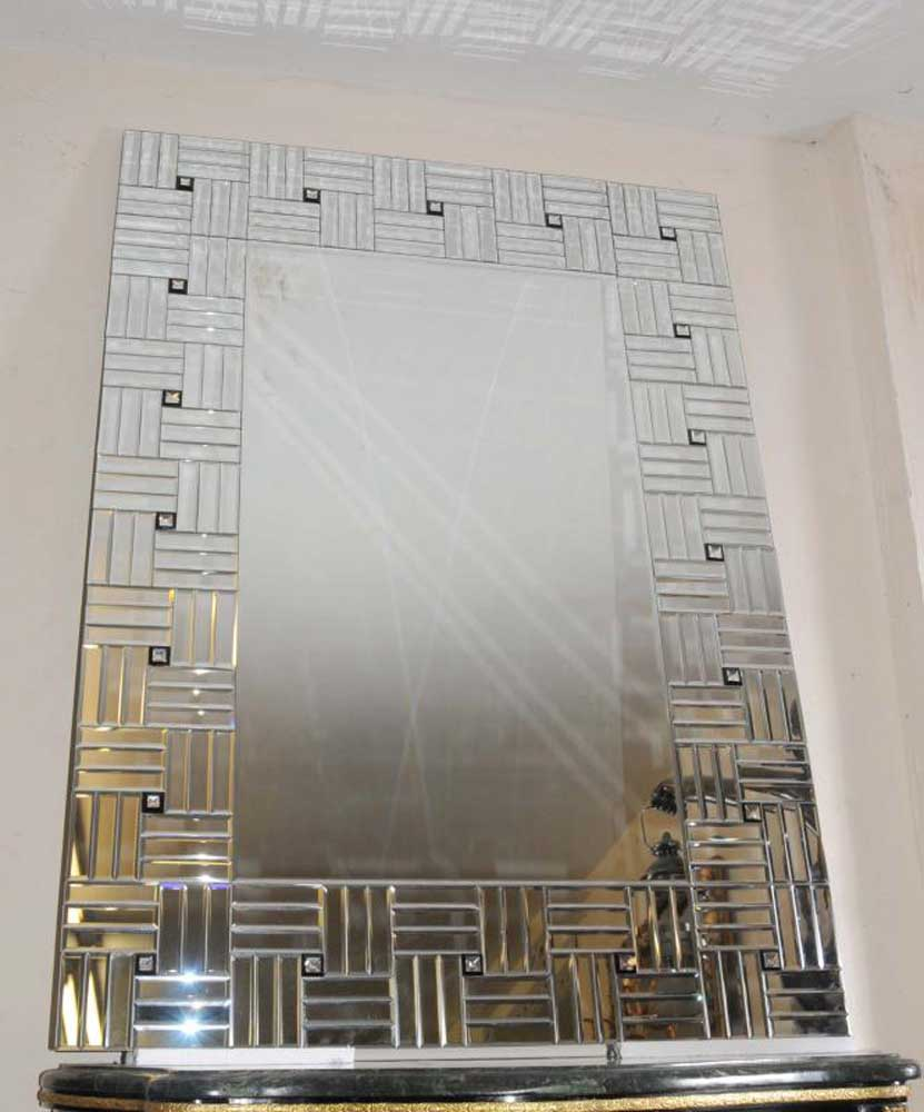 Large Art Deco Glass Pier Mirror Mirrors Interior Design