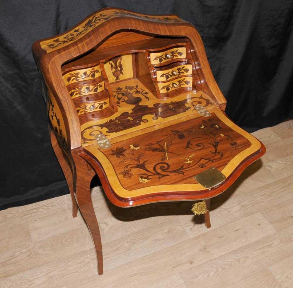 louis xv bureau de dame desk writing table inlay. Black Bedroom Furniture Sets. Home Design Ideas