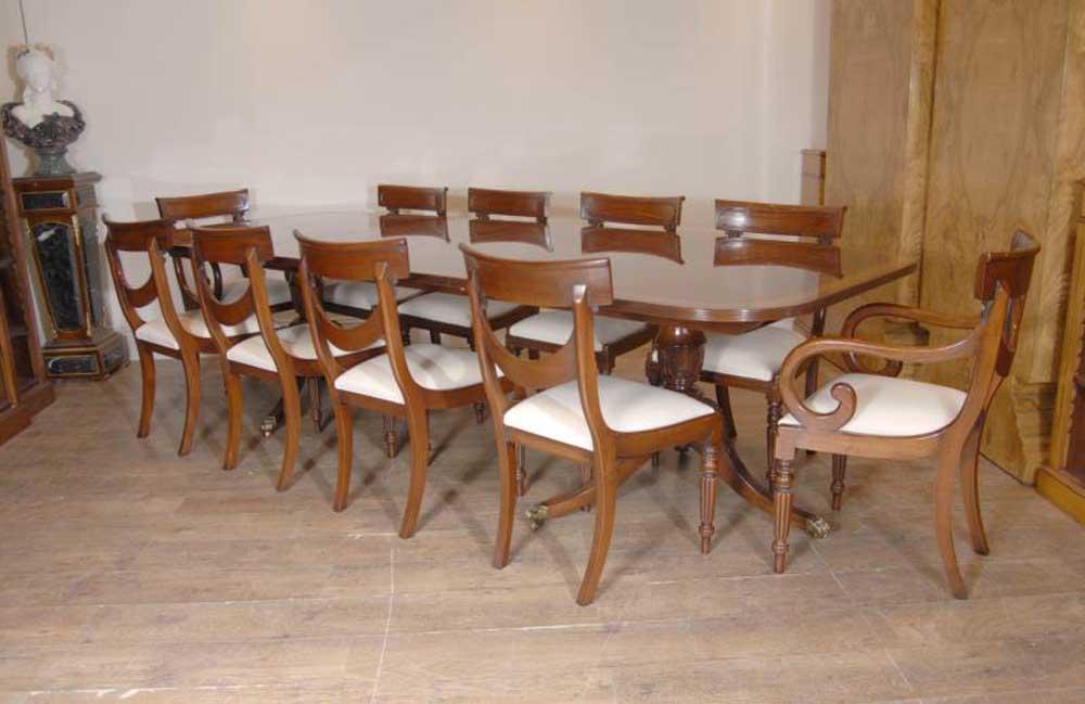 Luxury Regency Table Amp Swag Chair Dining Set