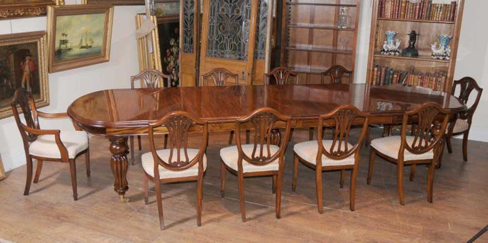Mahogany Dining Table Chairs Victorian Extender u0026 Sheraton Chair Set | eBay : mahogany dining table set - pezcame.com