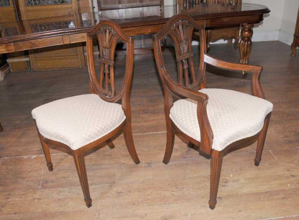 Mahogany Dining Table Chairs Victorian Extender & Sheraton ...