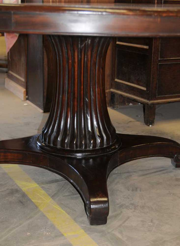 Mahogany Round Regency Dining Table Tables