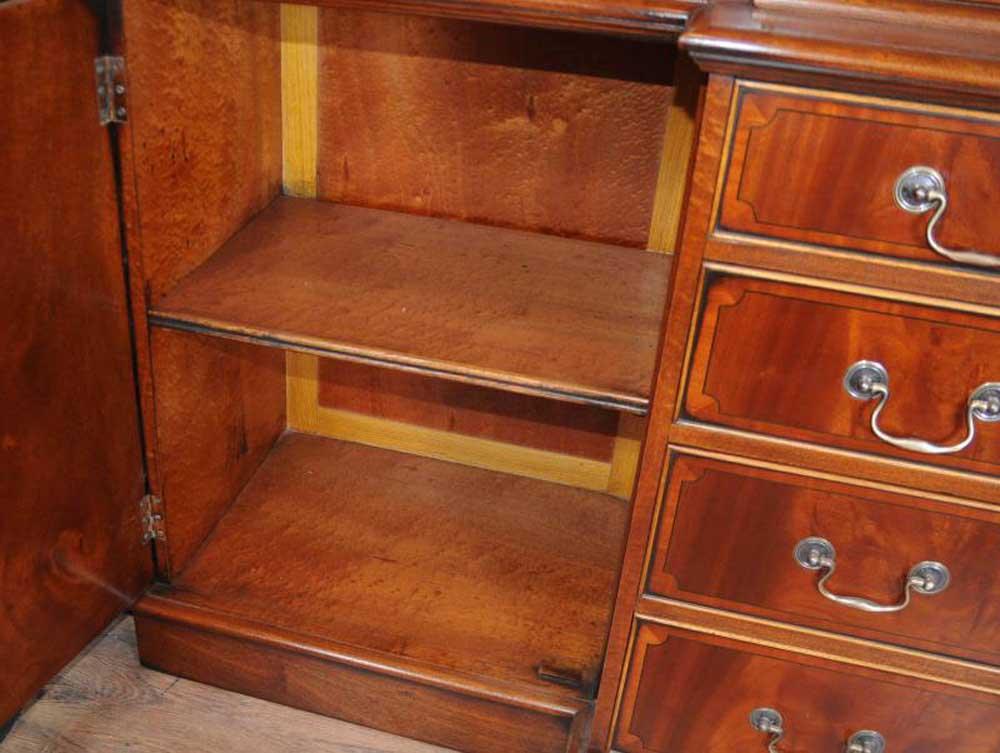 Mahogany Victorian Breakfront Bookcase Gothic Bookcases Furniture Ebay