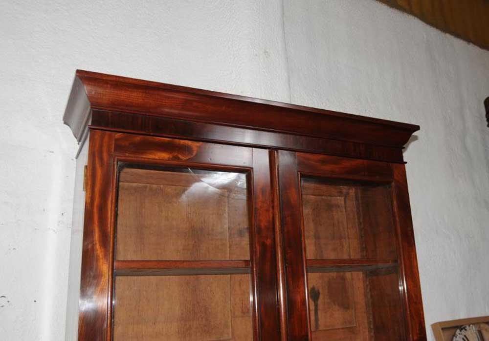 Mahogany Victorian Cylinder Bureau Bookcase Desk Cabinet