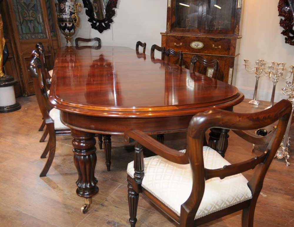 Mahogany victorian dining table chairs set for Photos of dining tables and chairs