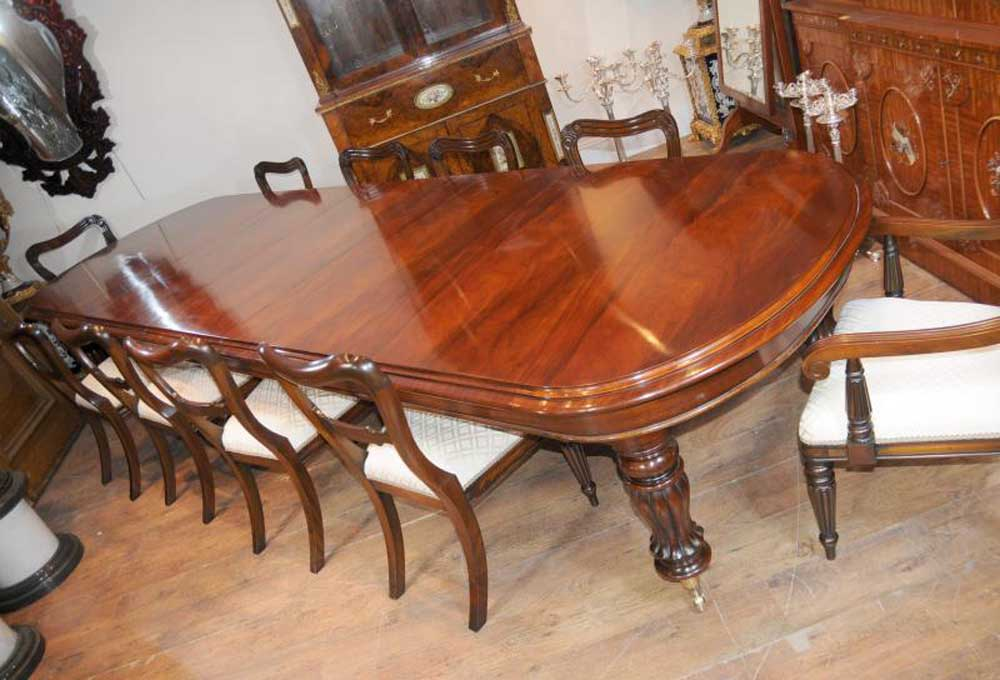 Mahogany Victorian Dining Table Chairs Set