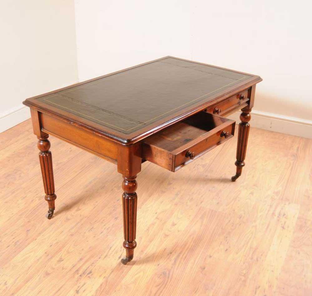Mahogany william iv writing table desk furniture bureau for Bureau writing desk