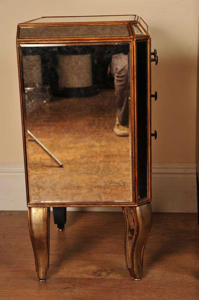 Mirrored Bedside Tables Art Deco Furniture Chests