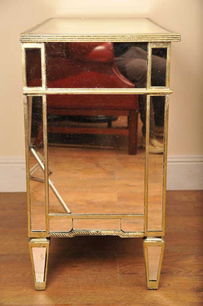 Mirrored Chest Drawers Glass Mirror Deco