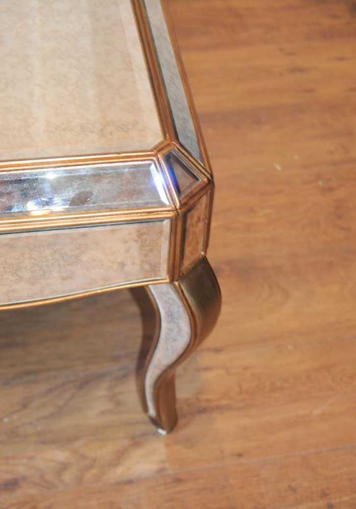 Mirrored Coffee Table Cocktail Deco Mirror Furniture