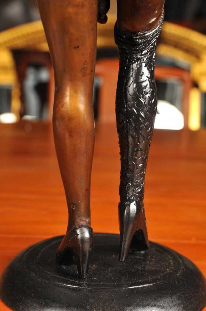 Naked Female Bronze Figurine Erotic Statue Art
