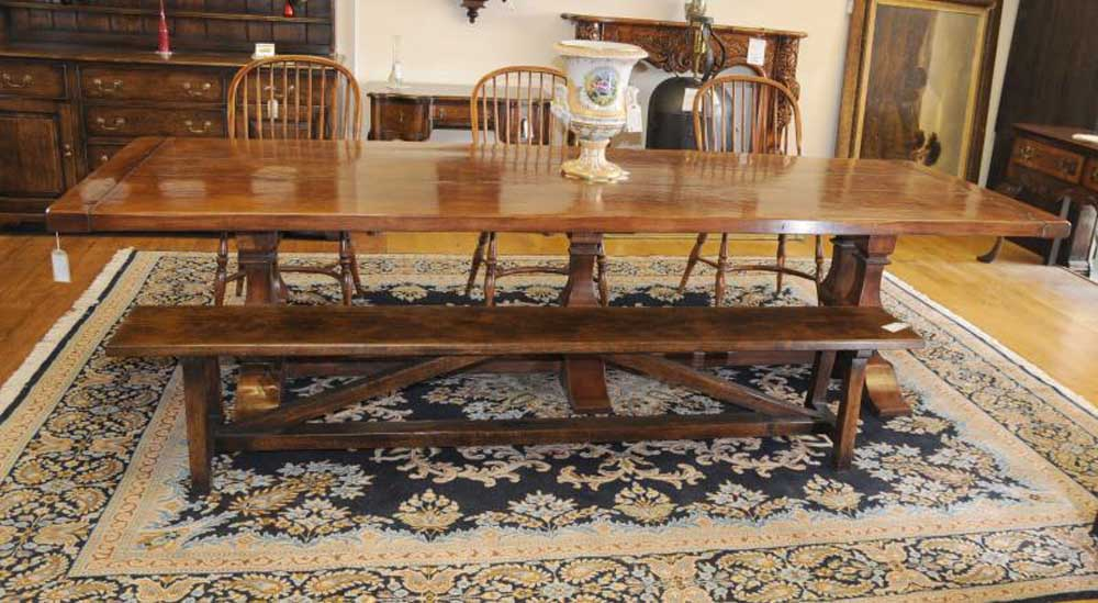 Norfolk Farmhouse Refectory Trestle Table Bench Set
